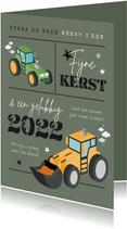 Zakelijke kerstkaart agrarisch tractor graafmachine