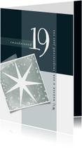 Zakelijke kerstkaart, eenvoudig met sterren en 2019