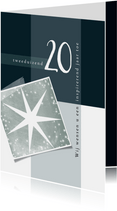 Zakelijke kerstkaart, eenvoudig met sterren en 2020