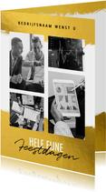 Zakelijke kerstkaart financiële branche goud kader & foto's
