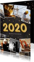 Zakelijke kerstkaart fotocollage polaroids met jaartal 2020