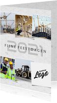 Zakelijke kerstkaart geometrisch beton 2021 fotocollage