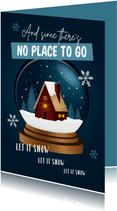 Zakelijke kerstkaart huis thuiswerken bedankt medewerkers