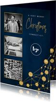Zakelijke kerstkaart ICT met iconen, foto's en typografie