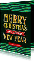 Zakelijke kerstkaart internationaal merry christmas typo