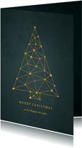 Zakelijke kerstkaart kerstboom connectie verbinding