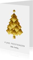 Zakelijke kerstkaart kerstboom goud