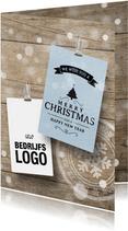 Zakelijke kerstkaart logo