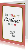 Zakelijke Kerstkaart - Merry Christmas - Modern