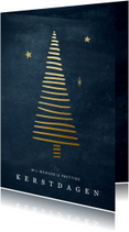 Zakelijke kerstkaart met gouden kerstboom en sterren