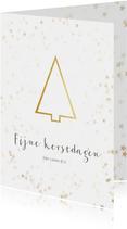 Zakelijke kerstkaart minimalistische gouden kerstboom