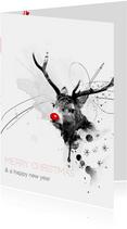 Zakelijke Kerstkaart Red Nosed