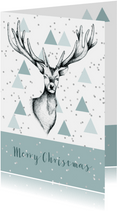 Zakelijke kerstkaart rendier grafisch stijlvol