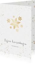 Zakelijke kerstkaart sneeuwvlok- Een gouden kerst