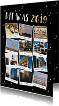 Zakelijke kerstkaart terugblik op 2019 fotocollage polaroid