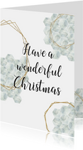 Zakelijke kerstkaart | Uniek marble kerstkaartje