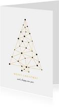 Zakelijke kerstkaart verbinding gouden kerstboom