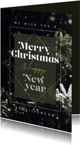Zakelijke kerstkaart winter merry christmas happy new year