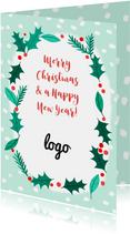 Zakelijke Kerstkrans met logo