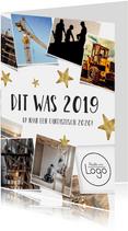 Zakelijke nieuwjaarskaart terugblijk 2019 fotocollage