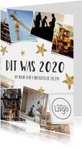 Zakelijke nieuwjaarskaart terugblijk 2020 fotocollage