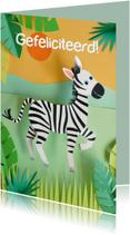 Zebra felicitatiekaart