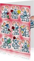 zomaar 1 muisjes met bloemen