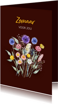 Zomaar droogbloemenboeketje