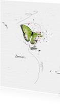 Zomaar Kaart Groene Vlinder