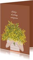 Zomaar kaart mimosa bloemen