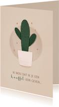 Zomaar kaartje cactus ik wou dat ik je een knuffel kon geven