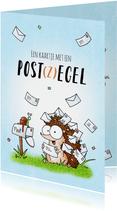 Zomaar kaartje met een post(z)egel