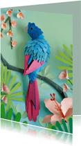 Zomaar kaartje met papegaai