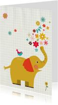 Zomaar met olifant en vogeltje