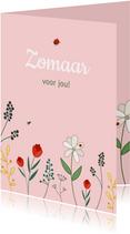 Zomaarkaart bloemen voor jou