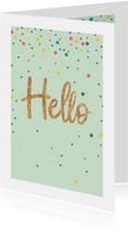 Zomaarkaart - Hello - sparkling