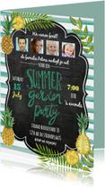 Zomer tuinfeest uitnodiging