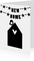 zwart wit verhuiskaart
