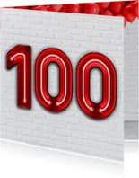 100 jaar in Stoere Industriële Neon Cijfers
