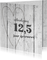 12,5 jaar getrouwd - vergrijsdhout print