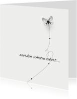 Condoleancekaarten - 12021 Condoleancekaart Vlinder