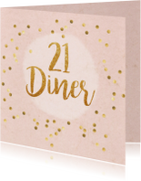 21 diner party confetti