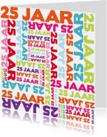 Jubileumkaarten - 25 jaar typografie