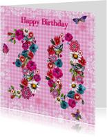30 jaar Verjaardag Bloemen Vrolijk