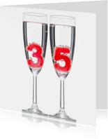35 in champagne glazen