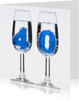 40 in champagne glazen