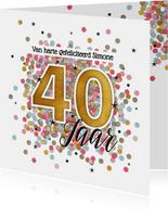 40 jaar felicitatie kaart verjaardag vrouw