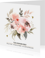 40 jaar getrouwd pastel watercolor bloemen