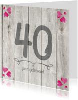 40 jaar huwelijk jubileumkaart