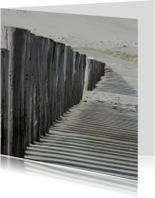 4K strandpalen werpen een schaduw